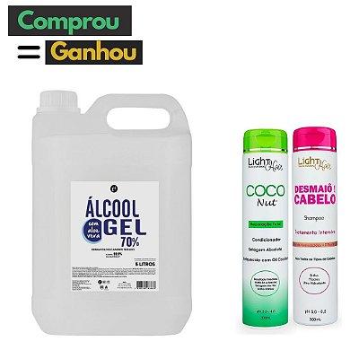 Álcool em gel 5L e GANHE shamp Desmaio ou cond Coconut