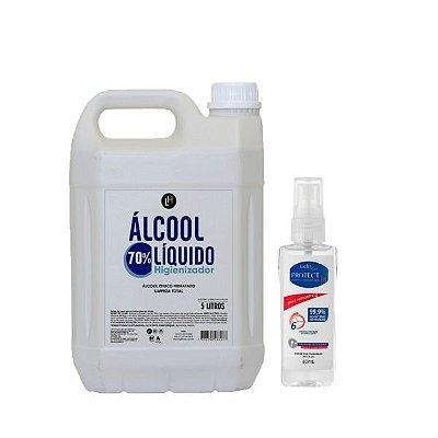 Álcool Líquido 70% 5L + Protec bac 60mL