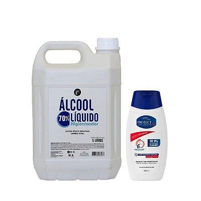 Álcool Líquido 5L + Loção hidratante