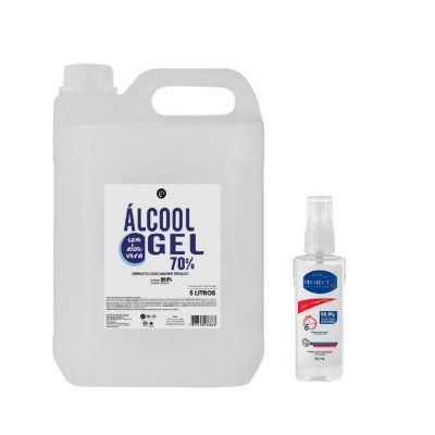 Kit Álcool em gel 70% 5L + Protec Bac 60mL
