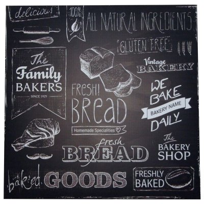 Placa decorativa - Fresh bread