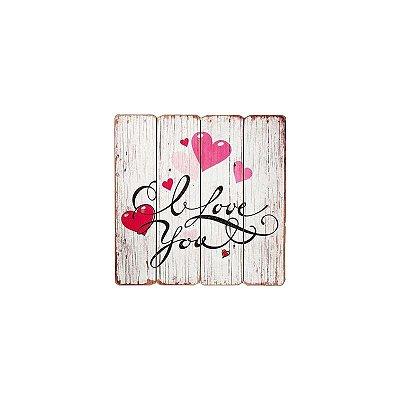 Placa decorativa - I love you