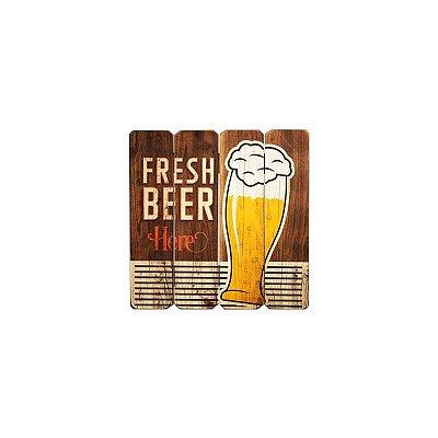 Placa decorativa - Fresh beer here