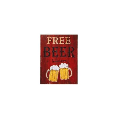 Placa decorativa - Free beer