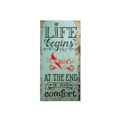 Placa decorativa - Life begins