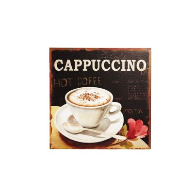 Placa decorativa - Cappuccino