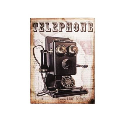 Placa decorativa - Telephone