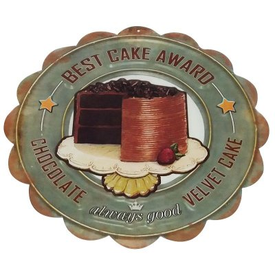 Placa decorativa - Best cake award