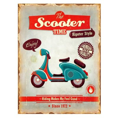 Placa decorativa - The scooter time