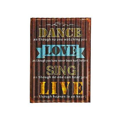 Placa decorativa  - Dance, love, sing, live
