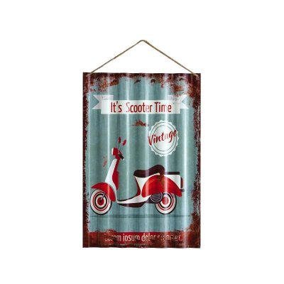 Placa decorativa - It's scooter time