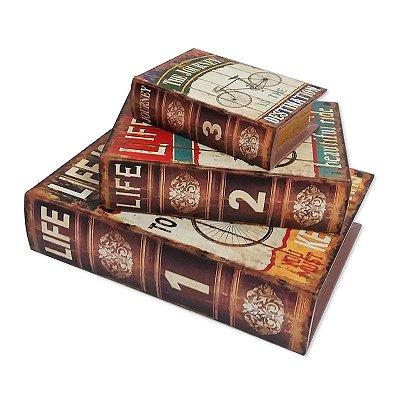 Kit livro caixa - Life is like riding a bicycle