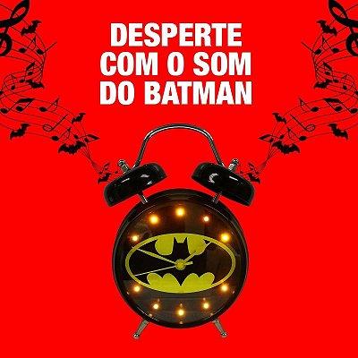 Relógio despertador com som - Batman