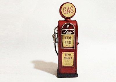 Miniatura bomba de gasolina vermelha 1