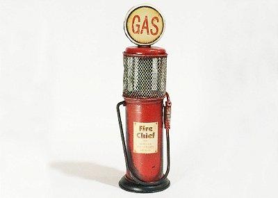 Miniatura Bomba de gasolina vermelho 3