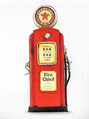 Miniatura bomba de gasolina vermelha 2