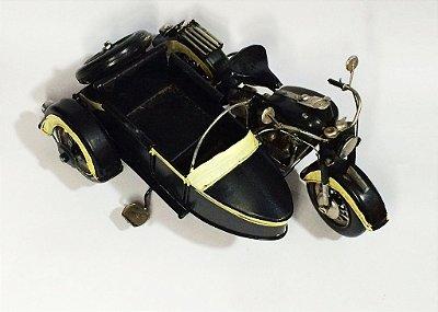 Miniatura Motocicleta com sidecar-2