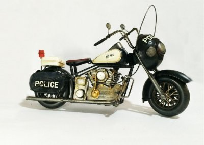 Miniatura Motocicleta Police