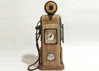 Miniatura caixa bomba de gasolina bege