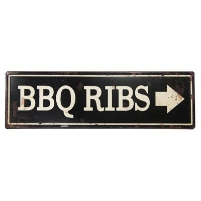 Placa decorativa - BBQ RIBS