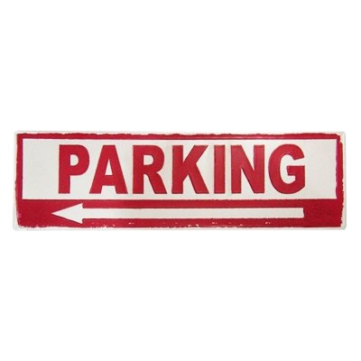 Placa decorativa - Parking