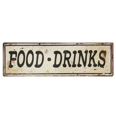 Placa decorativa - Food drinks