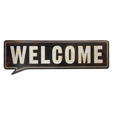 Placa decorativa - Welcome