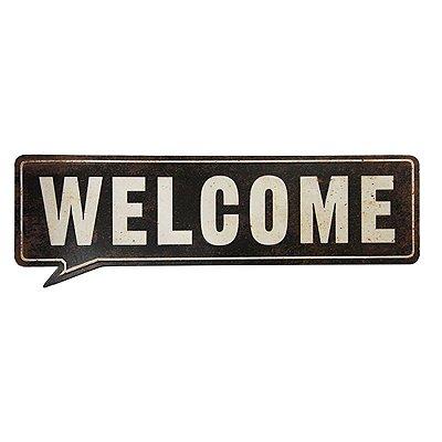 Placa decorativa - Welcome