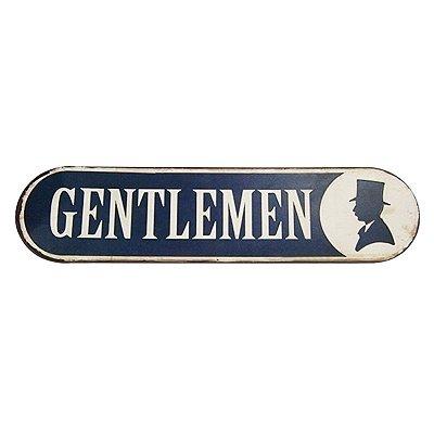 Placa decorativa - Gentlemen