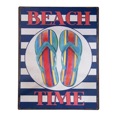 Placa decorativa - Beach time