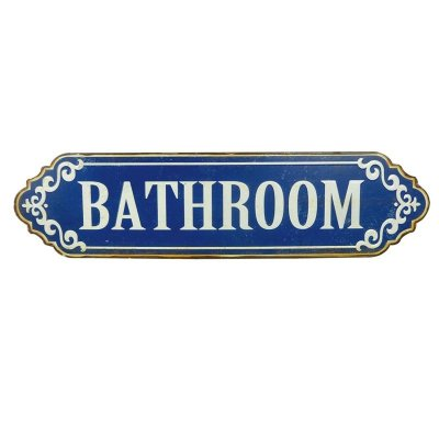 Placa decorativa - Bathroom