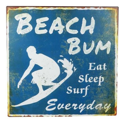 Placa decorativa - Beach bum