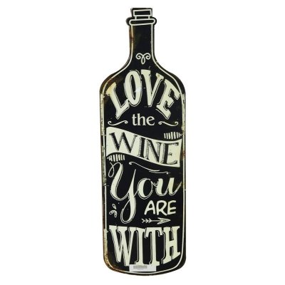 Placa decorativa - Love the wine