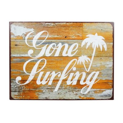 Placa decorativa - Gone surfing