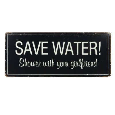 Placa decorativa - Save water
