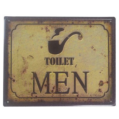 Placa decorativa - Toilet men