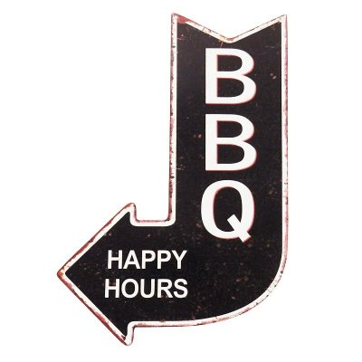 Placa decorativa - BBQ happy hours