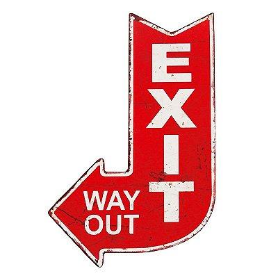 Placa decorativa - Exit way out