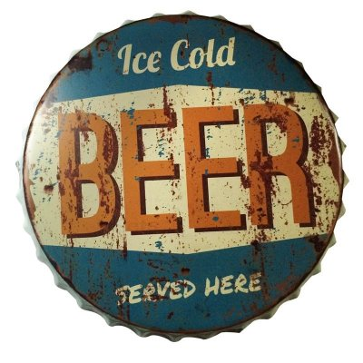Placa tampa decorativa - Ice cold beer
