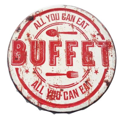 Placa tampa decorativa - All you can eat buffet