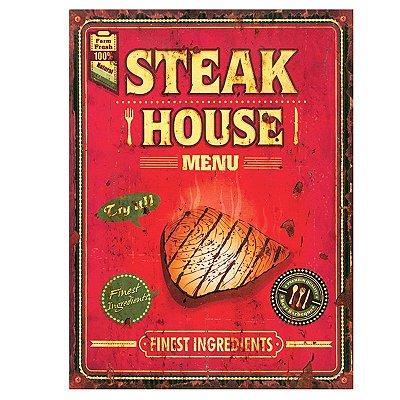 Placa decorativa - Steak house