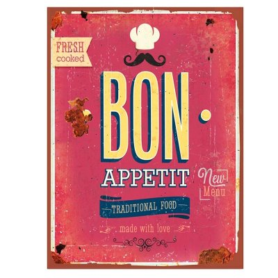 Placa decorativa - Bon appetit