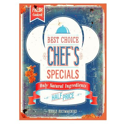 Placa decorativa - Best choice chef's