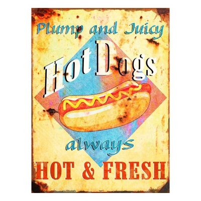 Placa decorativa - Hot dogs
