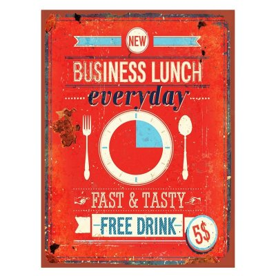 Placa decorativa - Business lunch
