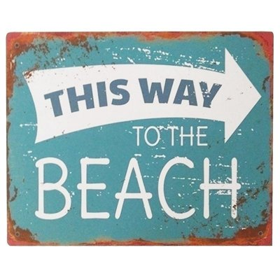 Placa decorativa - This way to the beach