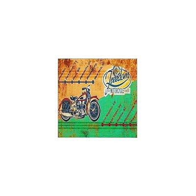 Placa decorativa - Freedom motocycle