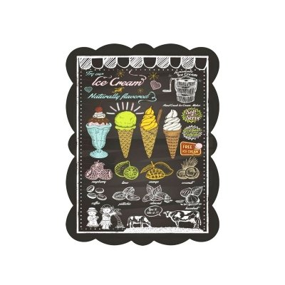 Placa decorativa - Ice cream
