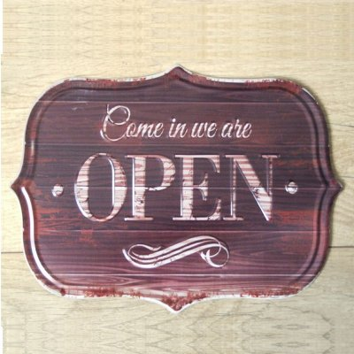 Placa decorativa - Open