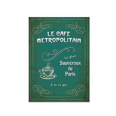 Poster emoldurado - Le cafe Metropolitain